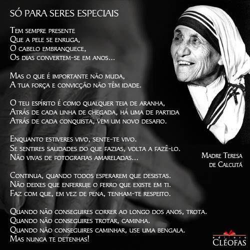 incrível espírito indomável srta. Madre Teresinha