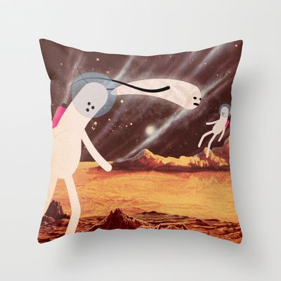 a l i e n Throw Pillow by Marco Puccini - $20.00