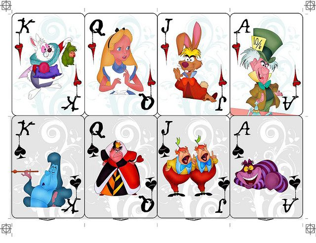 Alice In Wonderland Playing Cards | Wonderland of Oz ...