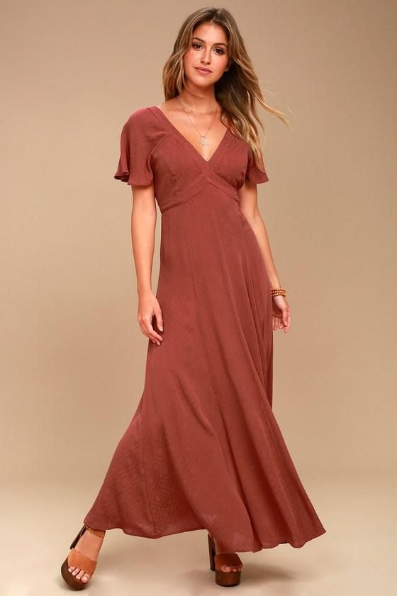 78493531199739 Lulus - #Lulus Lost + Wander Lana Rust Red Maxi Dress - AdoreWe.com ...