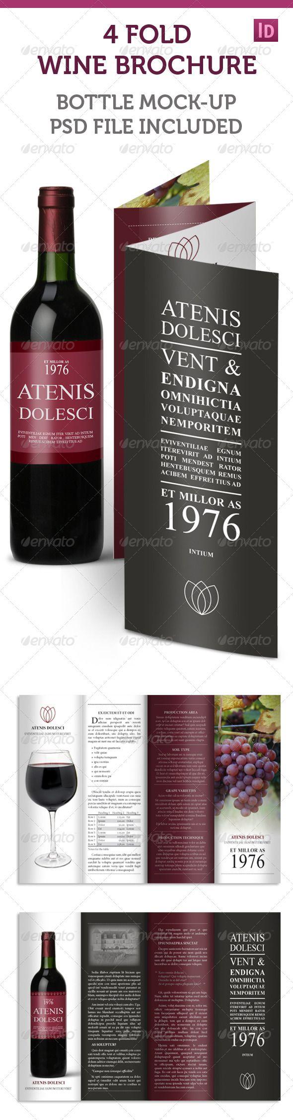 4 fold accordion wine brochure