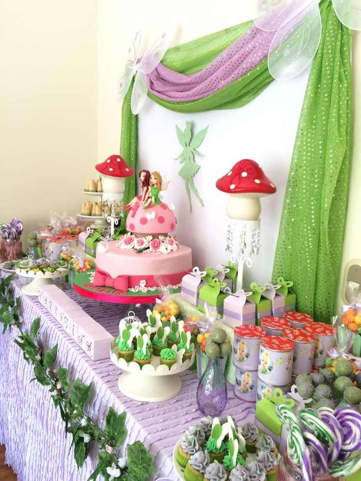 This Tinkerbell Birthday Party is so adorable!! Love the birthday cake!! See more party ideas and share yours at CatchMyParty.com