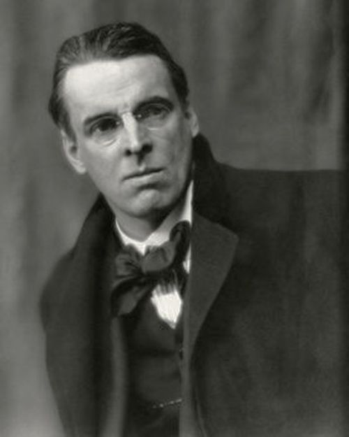 """""""There are no strangers here; Only friends you haven't yet met.""""   On this day in 1865, Irish poet William Butler Yeats was born."""