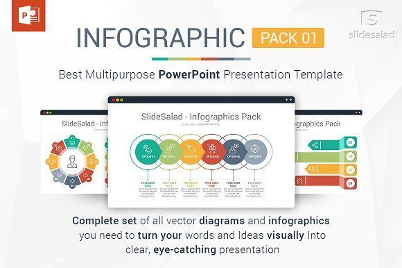 Best PowerPoint Infographics Pack  by SlideSalad on @creativemarket