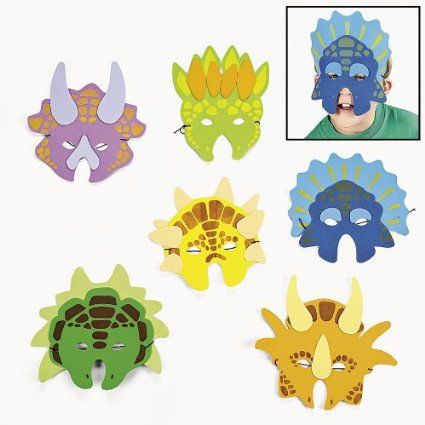 Amazon.com : 12 foam dinosaur masks : Dinosaur Party Supplies : Toys & Games
