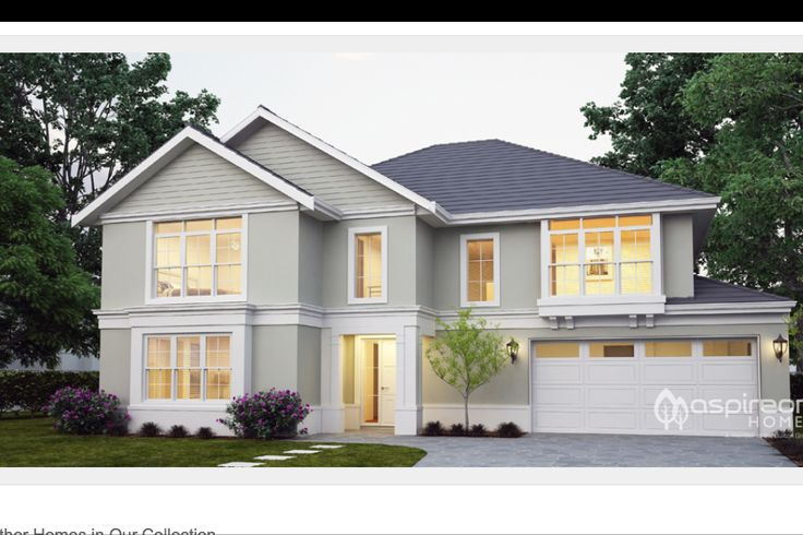 Classic home facade from Aspireon homes.