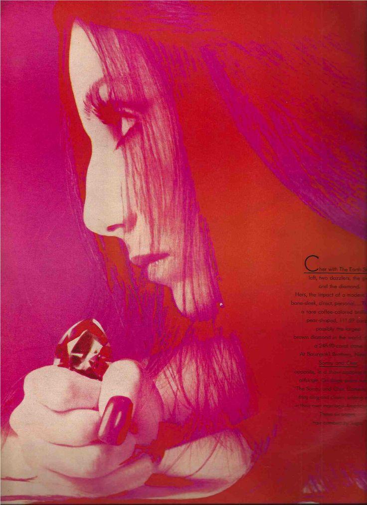 Cher 1972 by Richard Avedon