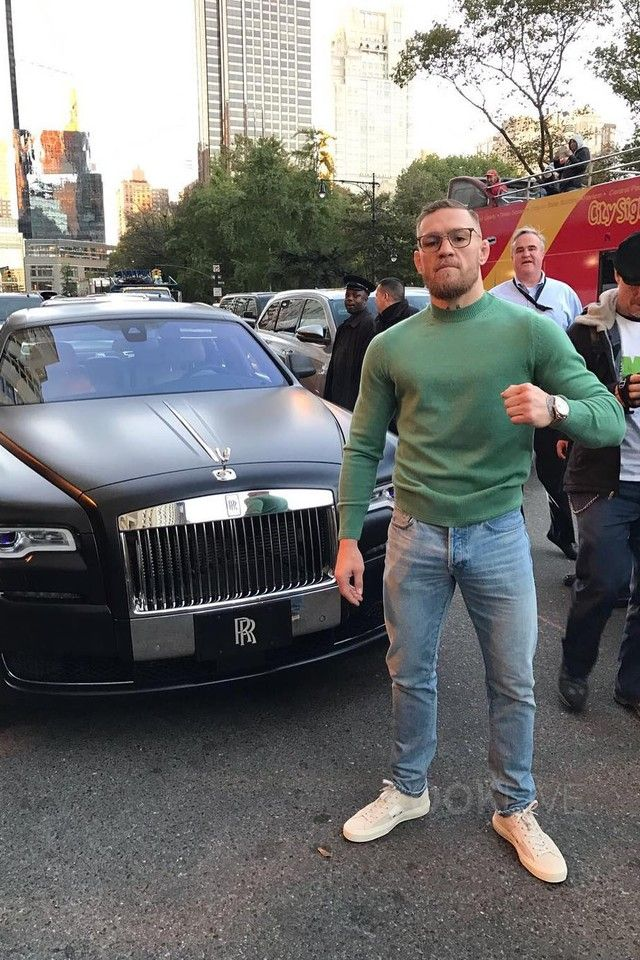 Conor McGregor wearing  Tom Ford Cambridge Suede Striped Low-Top Sneaker