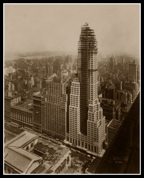 Empire State Building under construction in 1931