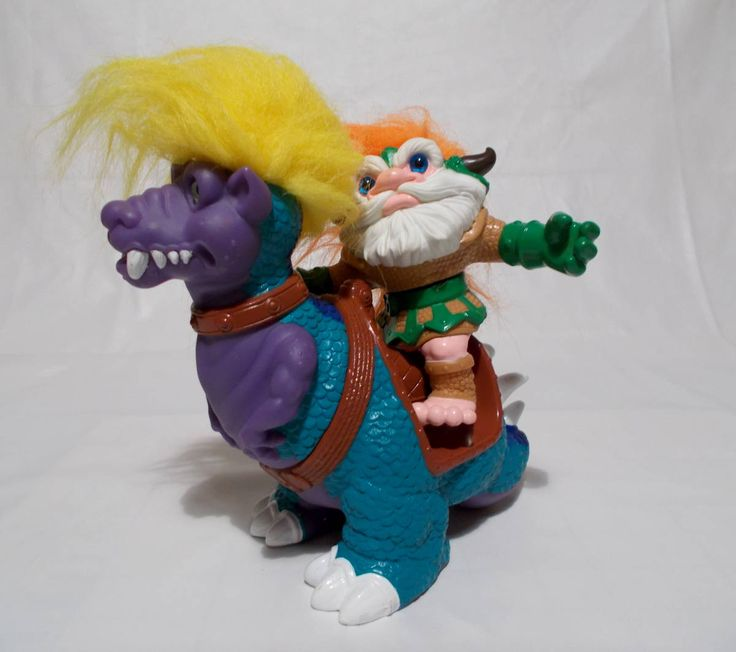 Battle Trolls Sventroll With Trollasaurus Vintage Hasbro Troll Doll Toys Action Figures 1992 by Tntbrbefan on Etsy