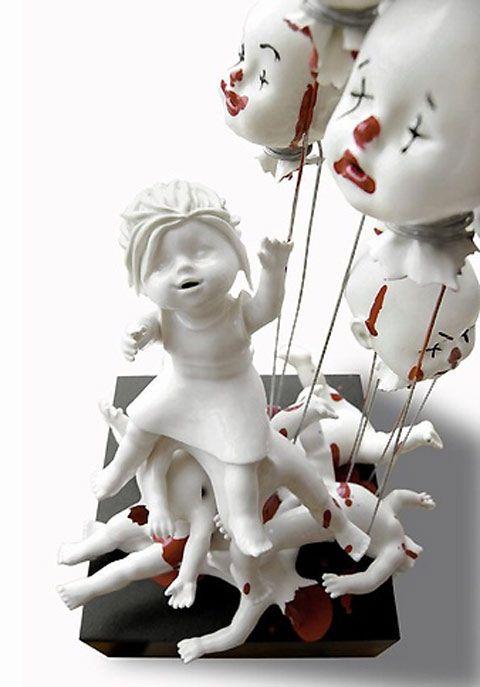 Dangerously beautiful ceramic artwork by Maria Rubinke