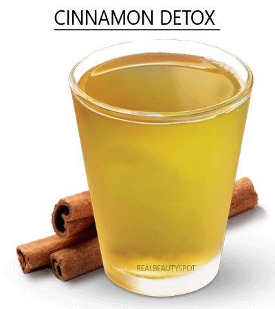 DIY Cinnamon flat tummy detox water