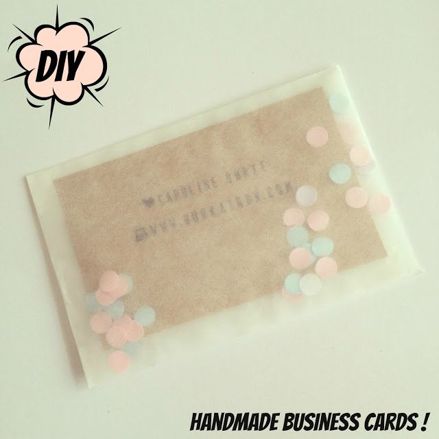 handmade crafty business cards DIY!