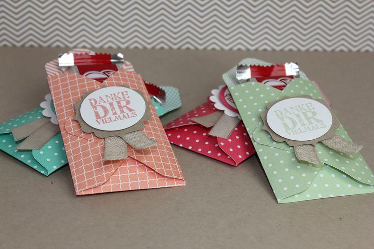 Kleine Verpackung mit der Stanztafel für Briefumschläge, Bild1, gebstelt mit Produkten von Stampin' Up!