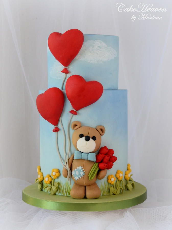 Valentine's Day  Cake by CakeHeaven by Marlene