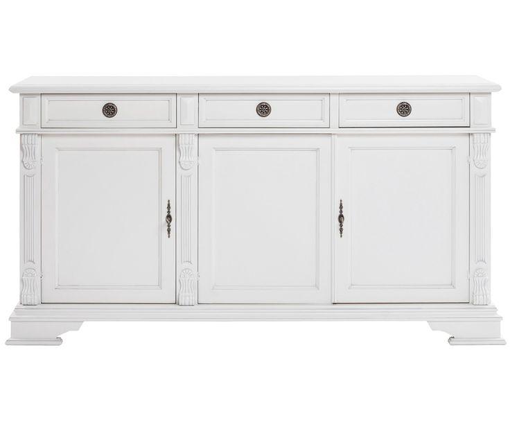 Cozy Country: Entdecken Sie Sideboard Mozart in Weiß und weitere hochwertige Landhaus-Möbel von ROWICO jetzt bei >> WestwingNow. Weißes Sideboard aus Holz - ROWICO
