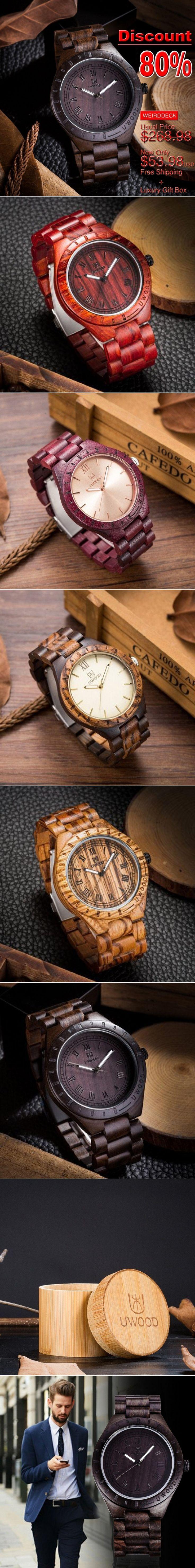 *80% Off!!! Top Designer's Super Luxury Men's Bamboo Wooden Wristwatch | Weird Deck - created via https://pinthemall.net