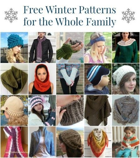 20 Free Winter #Crochet Patterns for the Whole Family | STOP searching and START making. CrochetStreet.com #diy