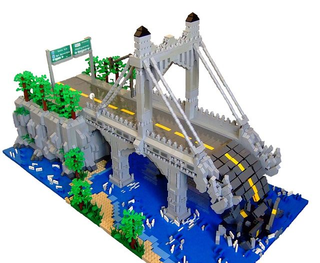 Brookline Bridge (Angle Shot) by Dylan B.., via Flickr
