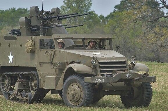 Military Vehicles For Sale In Europe >> Half-track w/ quad 50 cal machineguns. | American Army Tanks, Halftracks, & other equipment ...