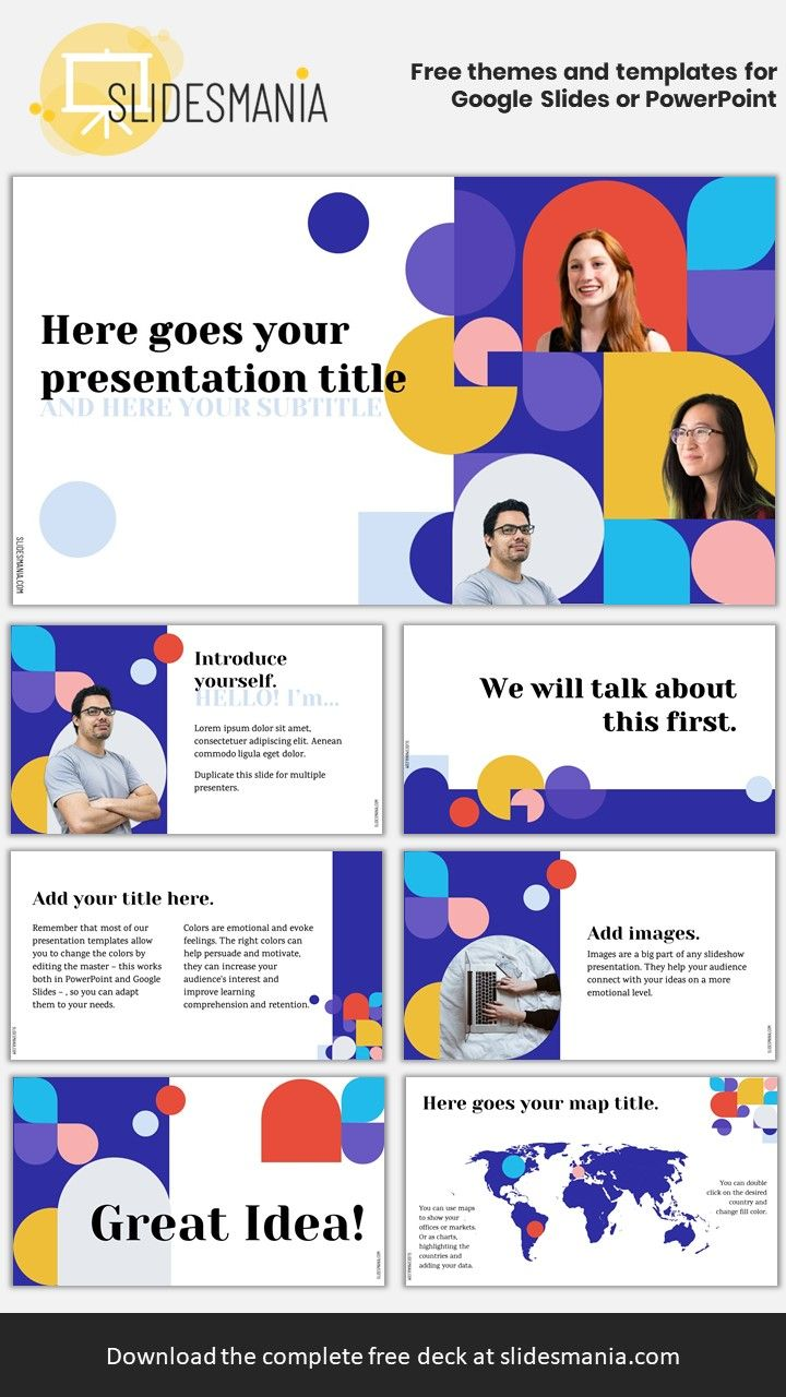 Bauhaus Free Google Slides Or Powerpoint Template For Multiple Presenters Google Slides Themes Powerpoint Templates Powerpoint