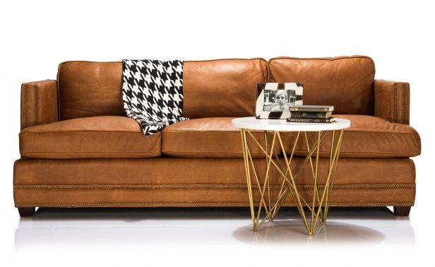 Coco Republic Maxwell Track Arm Leather Sofa