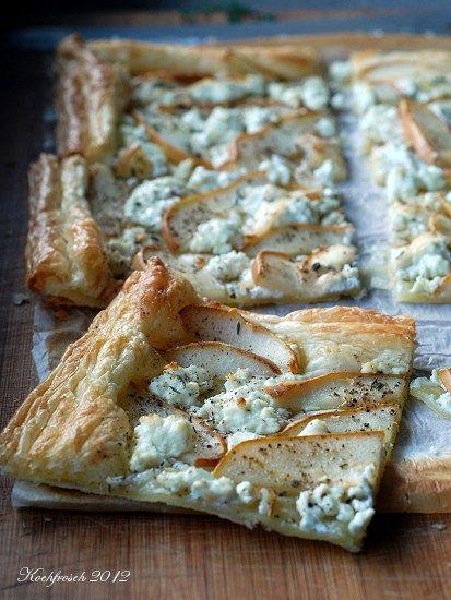 Kochfrosch: Für Faule: Blätterteigtarte mit Birnen und Ziegenkäse