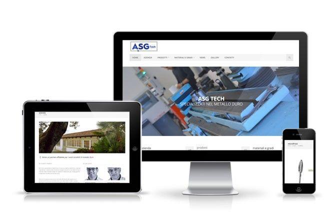 progettazione sito web AsgTech - studio grafico lagartixa designstudio grafico lagartixa design