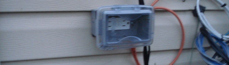 Adding an outdoor outlet