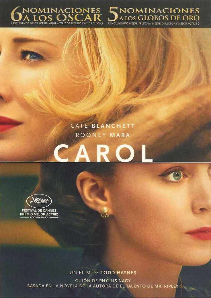 """""""Carol"""", Reino Unido, dirigida por Todd Haynes. Nueva York, años 50. Therese Belivet, una joven dependienta de una tienda de Manhattan que sueña con una vida mejor, conoce un día a Carol Aird, una mujer elegante y sofisticada que se encuentra atrapada en un matrimonio infeliz. Entre ellas surge una atracción inmediata, cada vez más intensa y profunda, que cambiará sus vidas para siempre."""