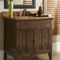 Bathroom. Master Country Cottage Style Bathroom Vanity Design Ideas. Bathroom Vanity Ideas Features Brown Wooden Laminated Country Vanity With Straight Legs And Double Swing Doors Ideas With Handle Plus Light Brown Marble Top With Sink And Faucet