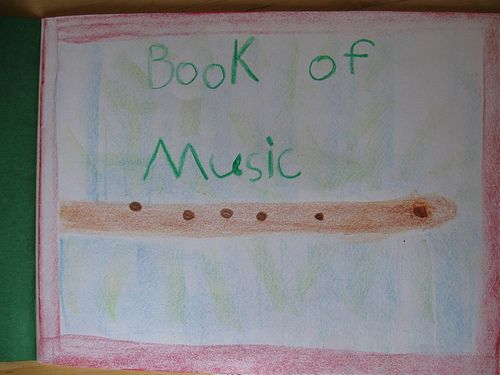 There is a beautiful block on reading music that begins with the child drawing  its own hand, carefully, laid sidewise on the MLB, then from the fingers flow  the lines of the staff....flowing out of the fingertips...for this is indeed how  the five lines of the staff were created, one to show each finger pluck.    Then the staff is drawn again, with flowing lines, on the next day, and right in  the middle a lovely fat round yellow sun (in the position of A) and all around