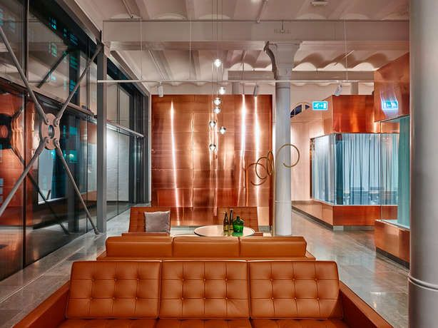 Octapharma has built a new office in an old brewery on Kungsholmen in Stockholm.Gustafs deliverad and installated PD5 perforated ach panels and copper panels. Architects: White & Joliark