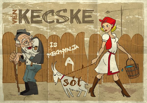 Vén kecske is megnyalja a sót -  Old goats like to lick the salt-block too. -  Said about elderly men who still lust after young women.