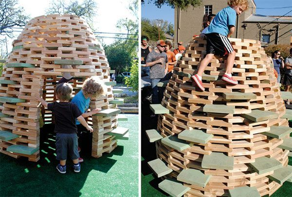 DIY Modern PlayHive for Kids | The PlayHive is a backyard play structure that just about anyone can make for their kids pretty quickly, to get to the squeals of joy coming from them quicker.