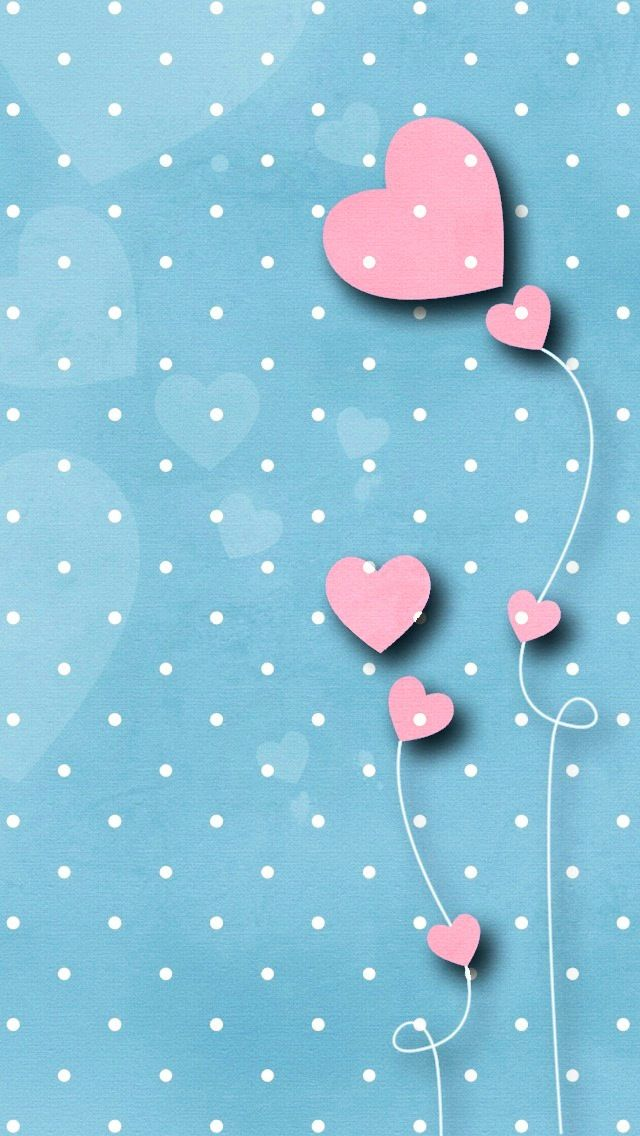 Iphone Wallpaper polka dots blue hearts pink http://htctokok-infinity.hu , http://galaxytokok-infinity.hu , http://iphonetokok-infinity.hu