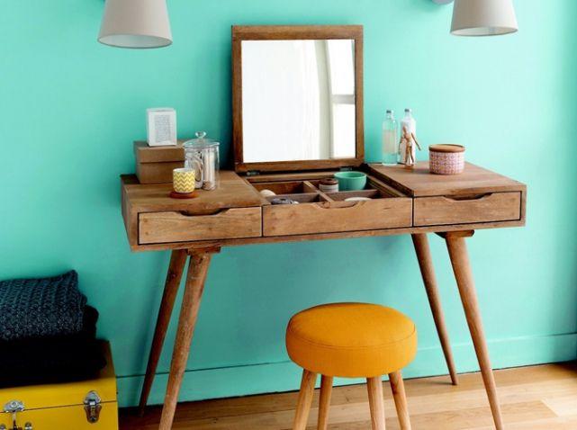 la coiffeuse id ale pour se refaire une beaut coiffeuse en bois coiffeur et maison du monde. Black Bedroom Furniture Sets. Home Design Ideas