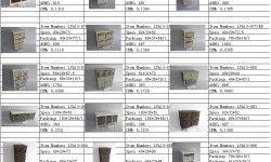 wooden&wicker&linen&cotton fabric drawer bathroom cabinet&living room bench