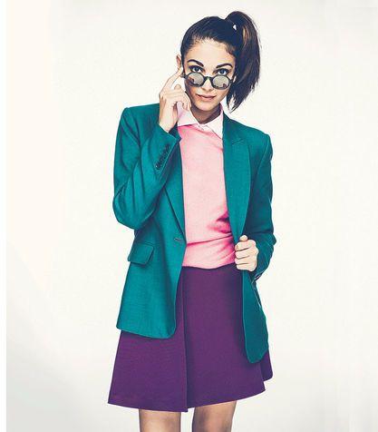 Verde ottanio + rosa caramella + viola