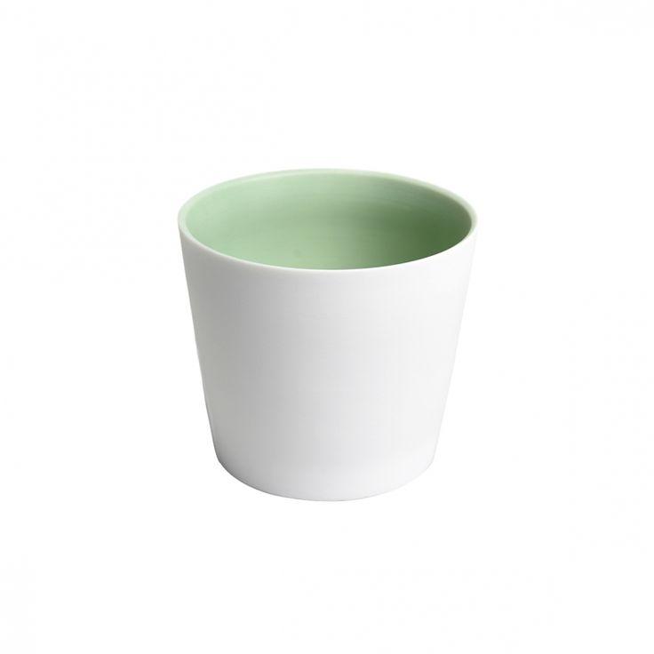 Waxinelichthouder, porselein, groen
