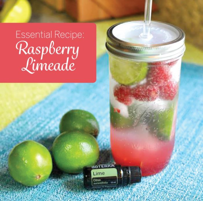 Looking for the perfect summer drink? Try this Raspberry Limeade recipe made with doTERRA Lime essential oil. This sweet and tangy drink is the perfect treat on any warm summer day.