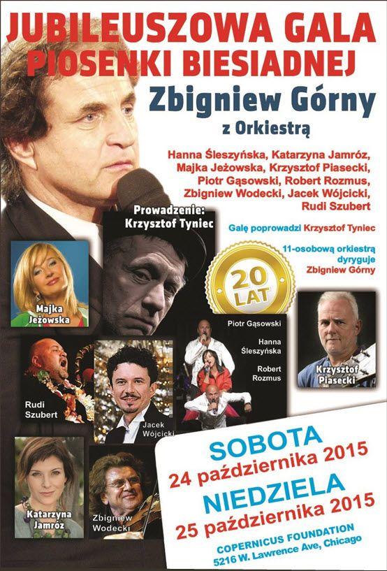 Jubileuszowa Gala Piosenki Biesiadnej Zbigniewa Górnego 10/24/2015 ~ 7 pm