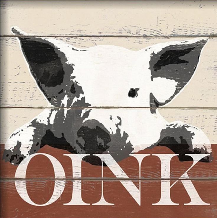 This pig's a farm charmer. #art #homedecor #Kohls