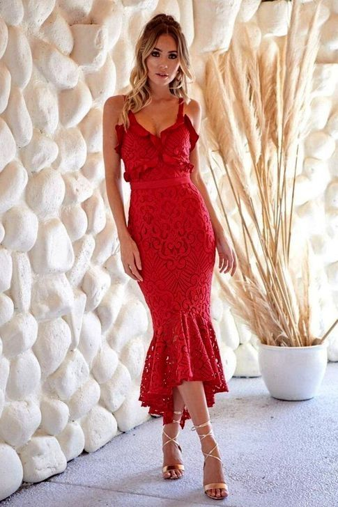 2831690b32f 20+ Beautiful Red Lace Dress Ideas For Your Valentines Day
