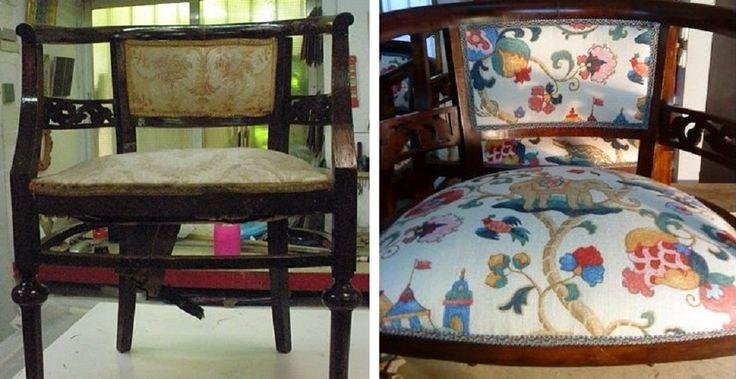 Un mueble puede cambiar completamente sólo con un nuevo tapizado