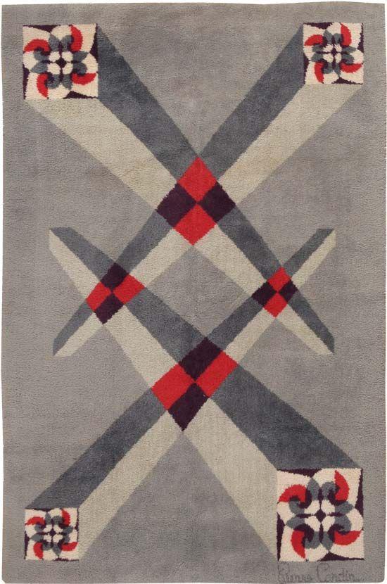 Art Deco Rug   Art Deco Carpet   Rug by Pierre Cardin 44896