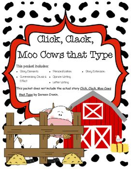 17 Best images about Click Clack Moo Cows That Type on Pinterest ...