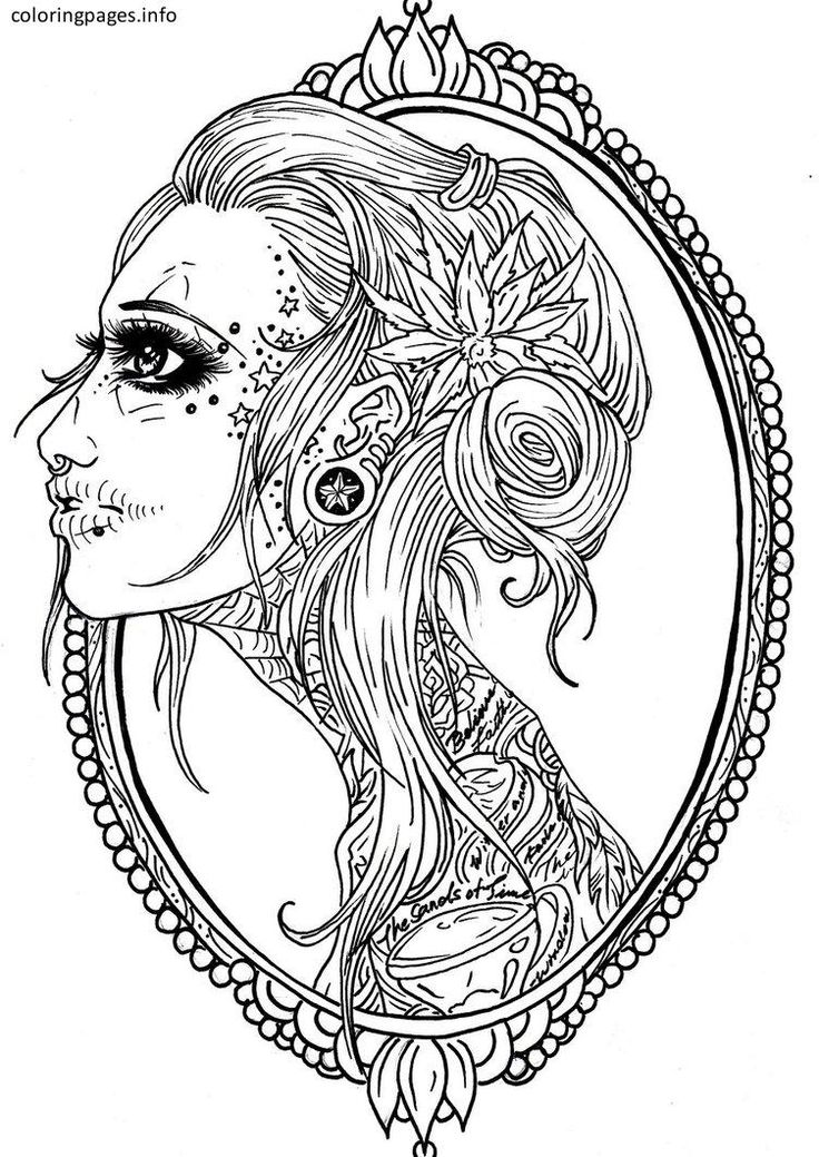 16 best Sugar Skull Coloring Pages images on Pinterest ...
