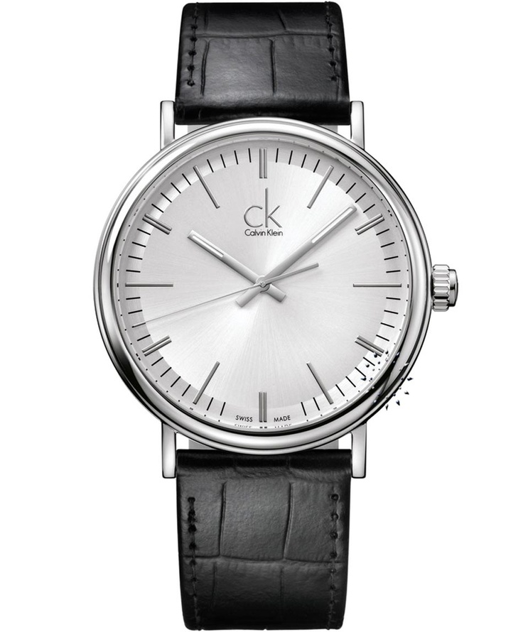 CALVIN KLEIN Surround Black Leather Strap  Τιμή: 241€  http://www.oroloi.gr/product_info.php?products_id=30869