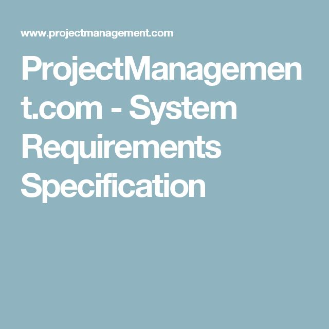 ProjectManagement.com - System Requirements Specification